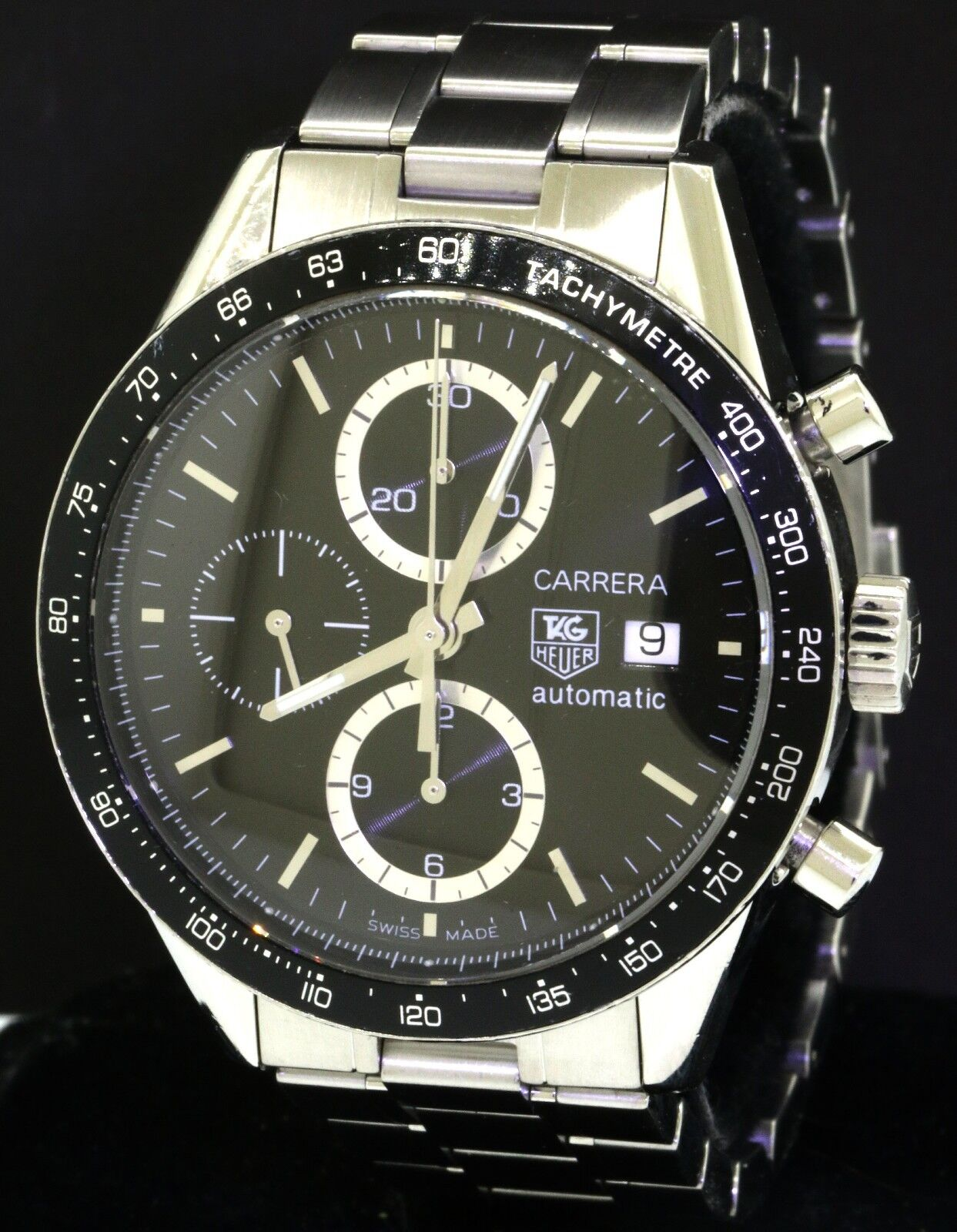 TAG Heuer Carrera high fashion SS automatic chronograph men's watch - watch picture 1