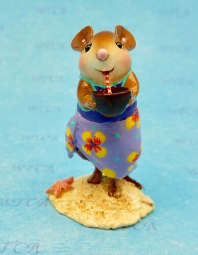 Wee Forest Folk PARADISE PAL (Beach Babe), WFF# M-577, Mouse Expo 2017 Purple