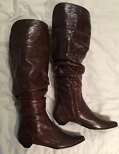 Brown boots.  Size 9