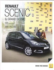 Renault Scenic 11 / 2014 catalogue brochure tcheque czech - Varsovie, Polska - Renault Scenic 11 / 2014 catalogue brochure tcheque czech - Varsovie, Polska
