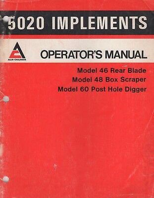 1978 Allis-chalmers 5020 Implements Operators Manual 2107018 276