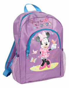 NEW-KIDS-GIRLS-MINNIE-MOUSE-BACKPACK-WITH-POUCH-CHILDRENS-SCHOOL-BAG