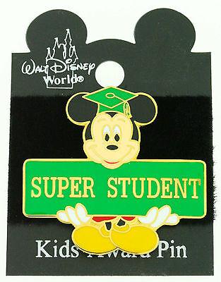 Disney Mickey Mouse Super Student Award Tac Pin Trading Pin