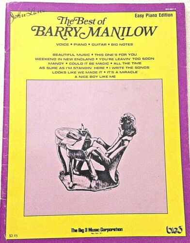 Vintage The Best of Barry Manilow Easy Piano Edition Book arranged John Lane