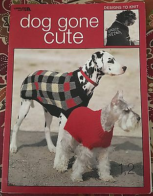 Dog Gone Cute Designs To Knit Dog Sweaters Pet Clothing Booklet Leaflet #3318