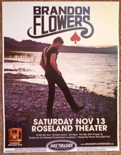 BRANDON FLOWERS 2010 Gig POSTER Killers Portland Oregon Concert