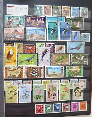 UGANDA REPUBLIC 1962-69  COMPLETE COLLECTION  mnh**/dt3052