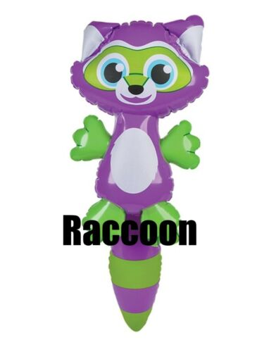 """22"""" Purple Green Mask Long Tail Raccoon Inflatable Inflate Toy Party Decoration"""