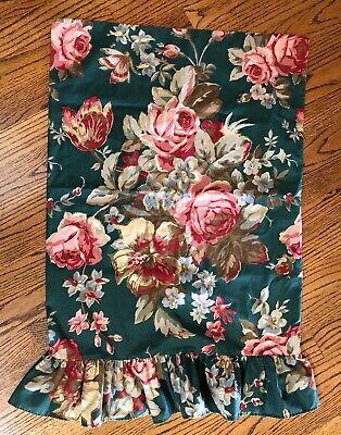 - RALPH LAUREN ADIRONDACK Floral Single Standard Pillow case - Ruffled hem ~ RARE!