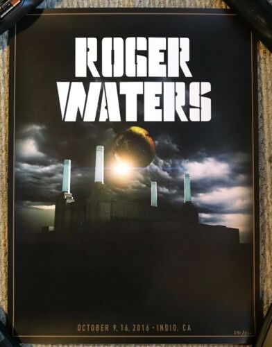 ROGER WATERS DESERT TRIP POSTER #371/500 Us + Them Pink Floyd David Gilmour