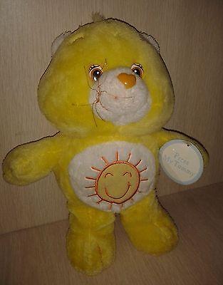 Care Bear ABC  yellow Moon Hearts 2006 10 Inch