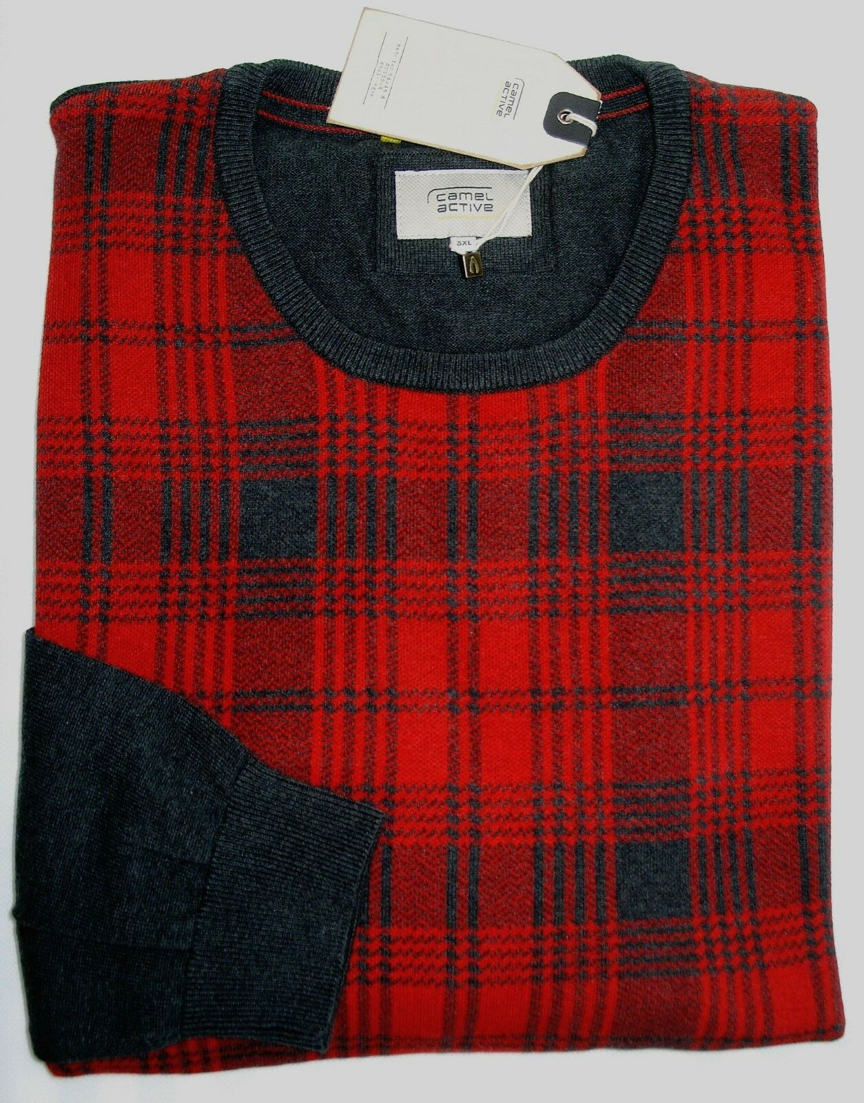detailed images buy cheap great prices Мужской свитер или пуловер CAMEL Active Pullover Langarm Rundhals Übergröße  3XL 4XL 5XL Karo NEU Jetzt-40%