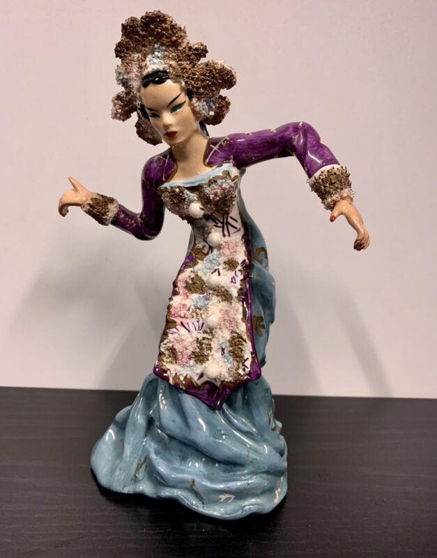 VINTAGE KATHI URBACH ASIAN PORCELAIN LADY DANCER FIGURINES