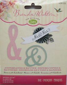Sizzix Sizzlits Ampersands & Banner Large Die Brenda Walton 658332
