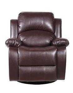 Bonded Leather Rocker and Swivel Recliner Living Room Chair - Brown  sc 1 st  eBay & Swivel Rocker Recliner: Chairs | eBay islam-shia.org