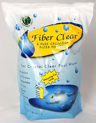 Fiber Clear Filter Media For Swimming Pools Replaces Diatomaceous Earth-3 Lbs