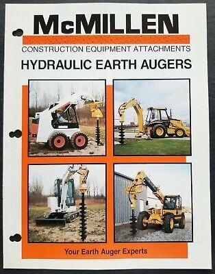 Mcmillen - Hydraulic Earth Augers Dealer Sales Brochure