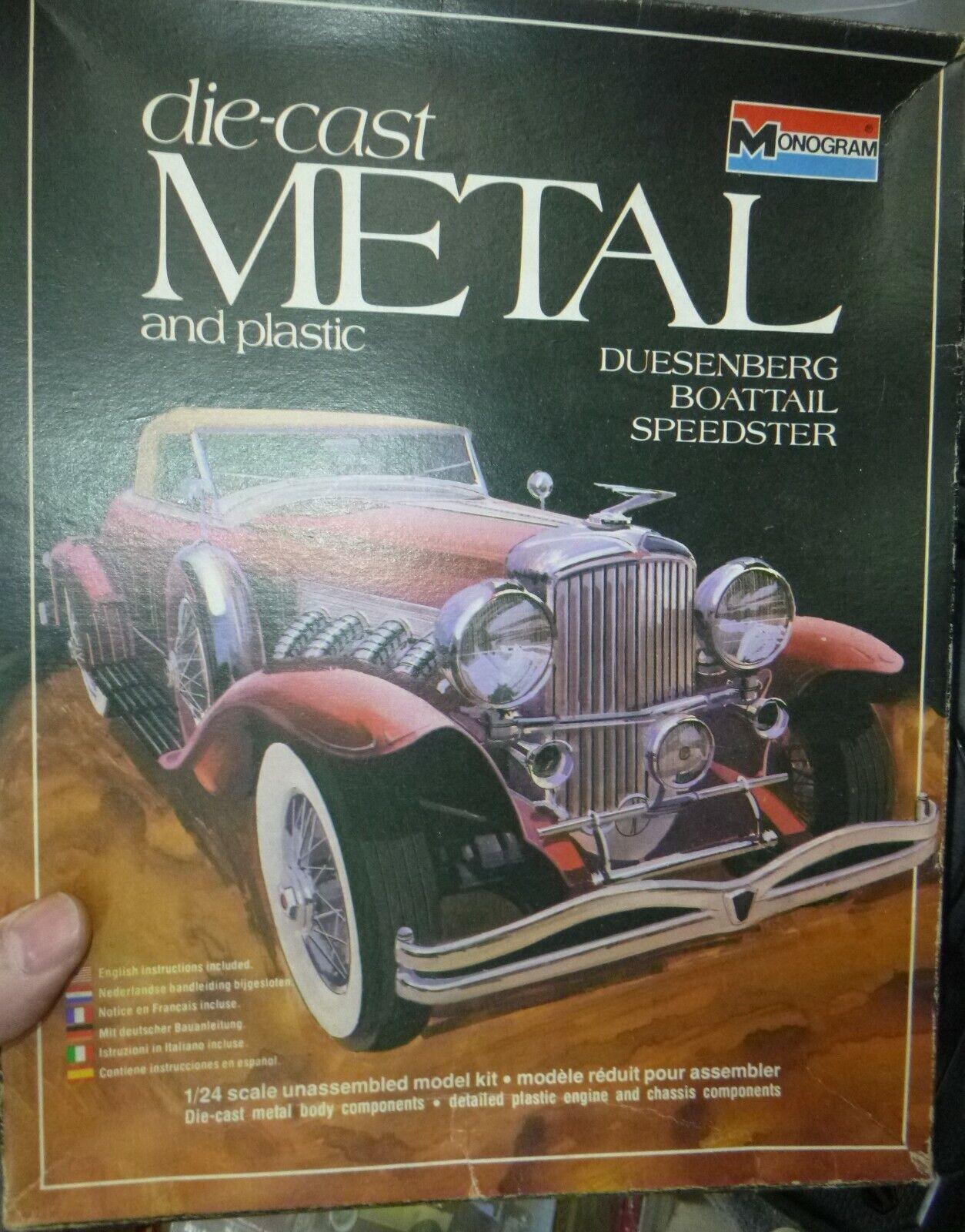1978 Monogram 6200 METAL DUESENBERG BOATTAIL SPEEDSTER 1/24 KIT McM NIB SI