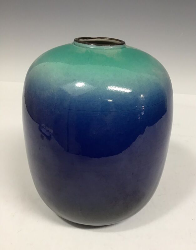 Chinese Pottery Green And Blue Vase