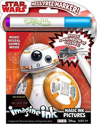 New 24Pg Star Wars The Last Jedi Imagine Ink Magic Pictures Activity Book