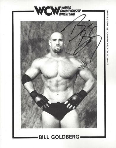 WCW LEGEND and Champion  Bill Goldberg  autographed 8x10  photo