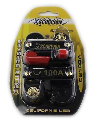 Xscorpion 100 AMP 12 Volt Circuit Breaker Fuse Holder Car Audio Stereo Reset