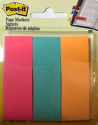 Post-it Page Markers Assorted Colors 1 In X 3 In 50 Sheetspad 3 Padspack