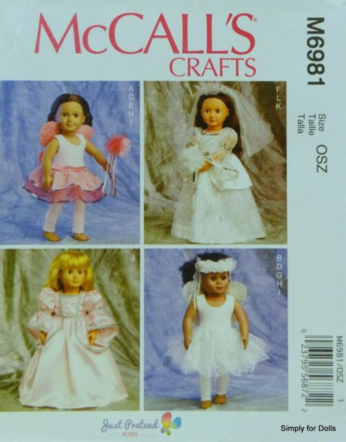Mccalls M6981 18 Quot Doll Clothes Pattern American Girl My