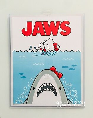 "Hello Kitty Art (Exclusive Universal Studios x Hello Kitty Jaws Movie Poster Art Print 14"" X 11"" )"