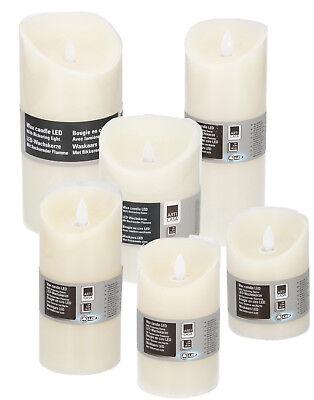 LED Kerzen Kerze Echtwachs bewegliche flackernde Flamme Flammenlos