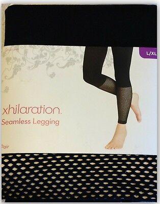 Black Fishnet Leggings (Xhilaration Seamless Black Leggings w Fishnet Inset S/M or)