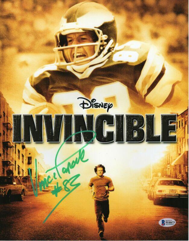 Vince Papale Autograph 11x14 Photo Disney Invincible Philly Eagles Signed JSA CO