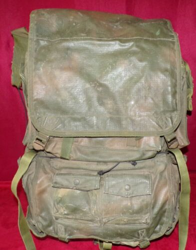 SADF, RECCE, SPECIAL FORCES, PATTERN 80 RUCKSACK/BERGEN, CAMO PAINT ON OD GREEN