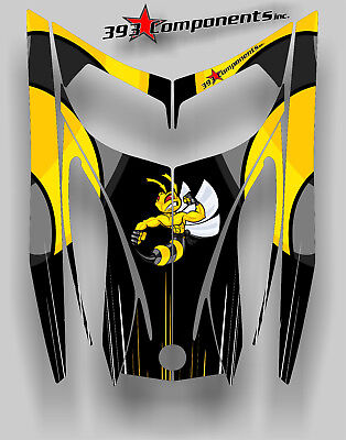 SKI-DOO REV MXZ SNOWMOBILE WRAP GRAPHICS HOOD DECAL 03-07 KILLER BEE