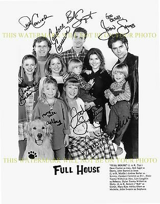 FULL HOUSE AUTOGRAPHED CAST SIGNED 8x10 RP PHOTO JOHN STAMOS BOB SAGET (Full House Signs)