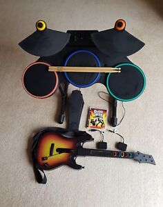 Guitar Hero PS3 Drums Guitar Pedal Game And Dongles