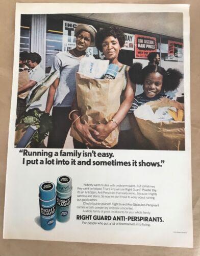 Right Guard deodorant ad 1974 original vintage print 1970s retro photo art