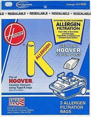 Hoover Type K Allergen Bag (6-Pack), 4010100K
