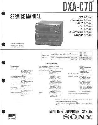Sony Original Service Manual für DXA-C 70