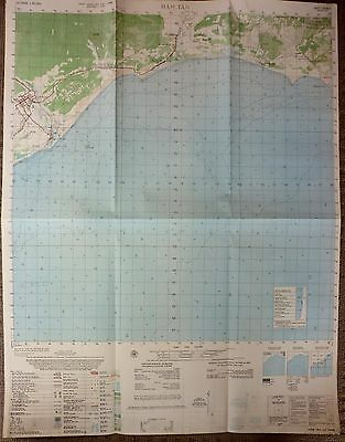 6530 ii - Rare Map - HAM TAN - 1969 MAP - NUI DAT - SOUTH CHINA SEA, VIETNAM WAR