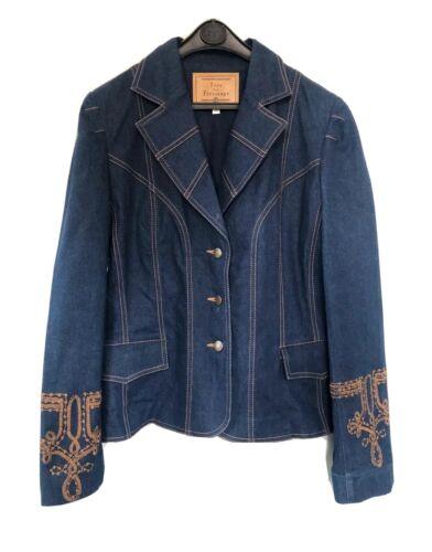 Veste en jean bohème ines de la fressange vintage - taille 42