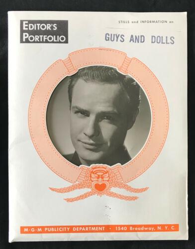 Original 1955 GUYS AND DOLLS press book Marlon Brando 12 PHOTOS  Frank Sinatra