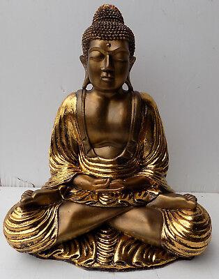 Buddha resin coloured 38x21x50h gold antique shiva Buddha Ganesh divinity 2