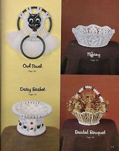 Image Is Loading Assorted Macrame Basket Patterns Craft Book Gs15 Simply