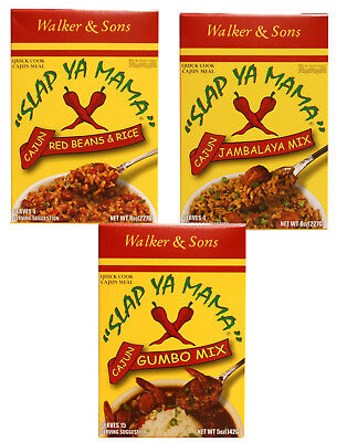 Slap Ya Mama Cajun Dinner Mixes  Red Beans & Rice, Jambalaya, or Gumbo ()