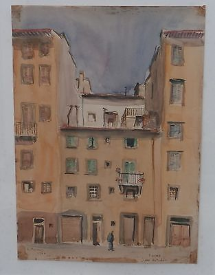 Street Signs In Italy (Old Street in Florence-Watercolor Painting -14 x10