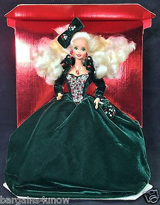 HAPPY HOLIDAYS BARBIE 1991 NRF BACKING WITHOUT BOX NEW