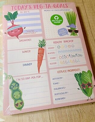 Clementine Paper Inc Food Goal Tracking Chunky Desk Pad Planner To Do Notepad