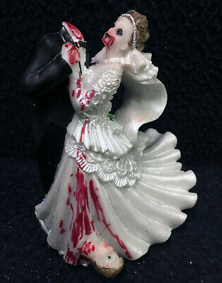 Halloween Zombies Bride and Groom top Wedding Cake Topper Funny Scary Headless  (Bride And Groom Halloween Cake Topper)