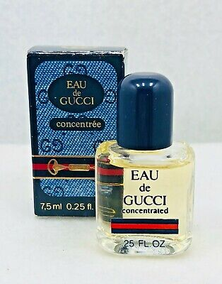 VINTAGE** Eau De Gucci Concentree .25oz/ 7.5ml Unisex *Miniature*
